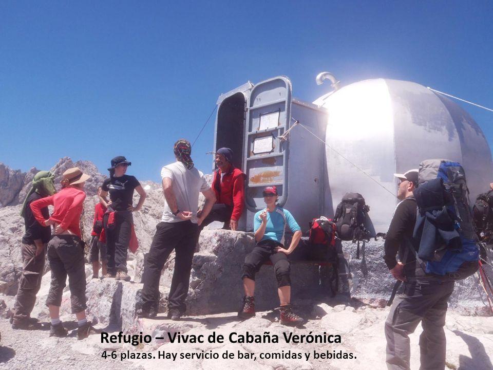 Refugio – Vivac de Cabaña Verónica 4-6 plazas. Hay servicio de bar, comidas y bebidas.
