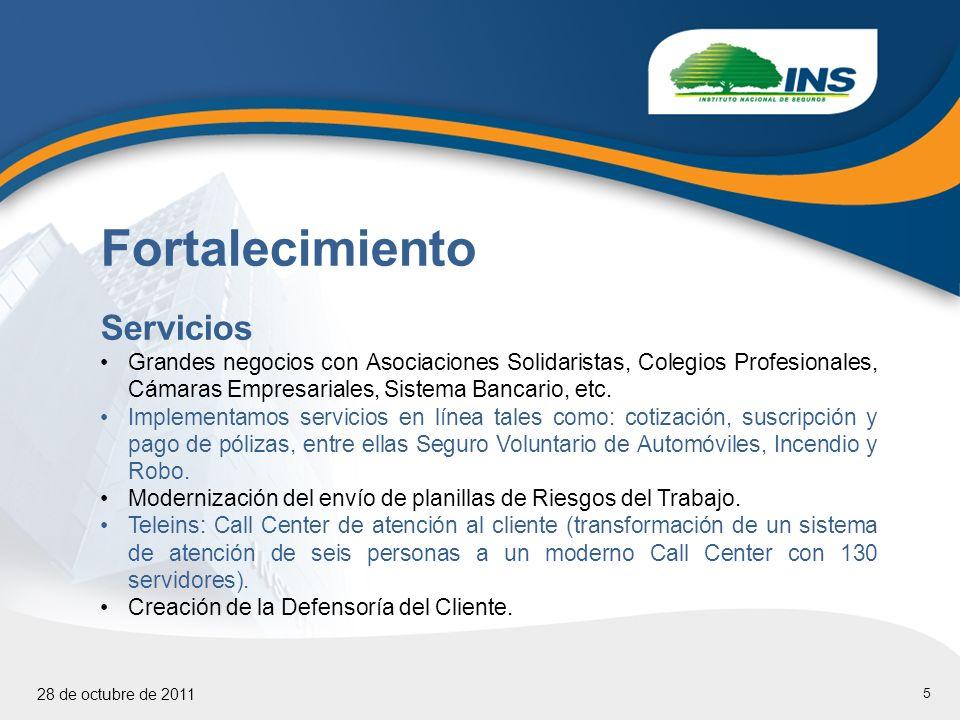 5 Fortalecimiento Servicios Grandes negocios con Asociaciones Solidaristas, Colegios Profesionales, Cámaras Empresariales, Sistema Bancario, etc.