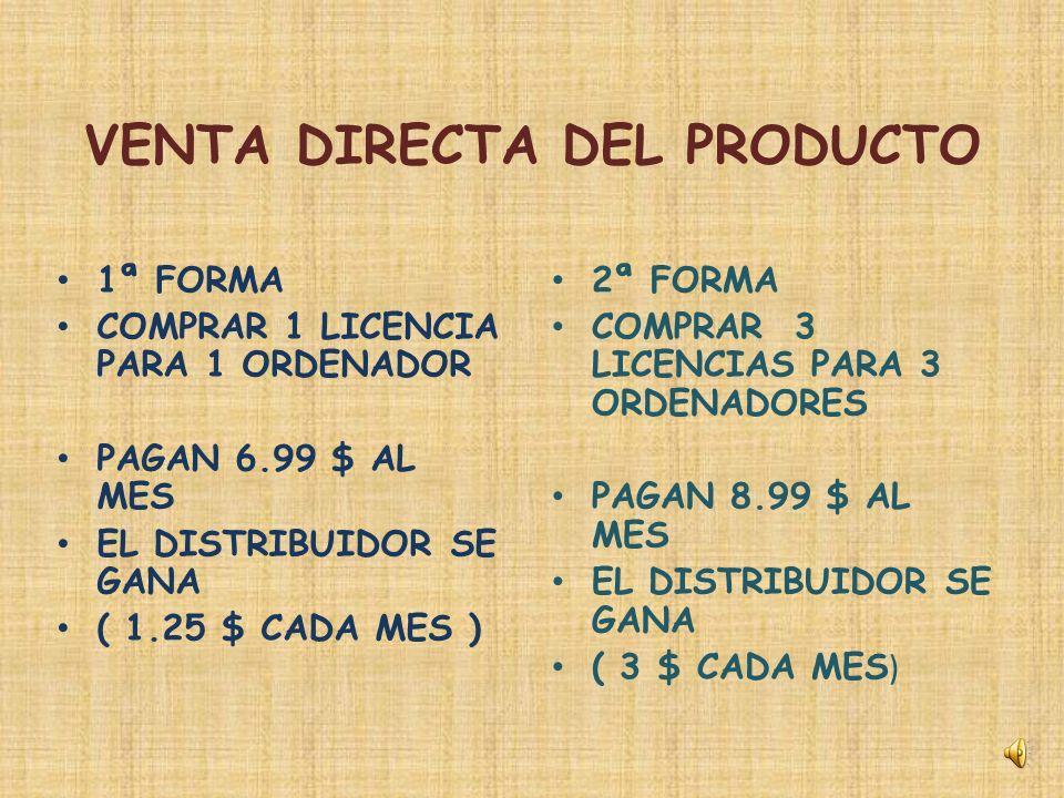 4 FORMAS DE GANAR DINERO 1 VENTA DIRECTA DEL PRODUCTO 2 BONO DE INGRESO RAPIDO 3 BONO DE INGRESO POR MATRIZ 4 BONO DE IGUALDAD