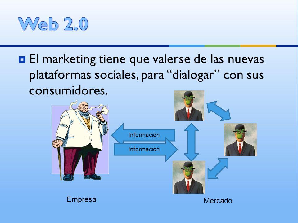 El marketing tiene que valerse de las nuevas plataformas sociales, para dialogar con sus consumidores. Empresa Mercado Información