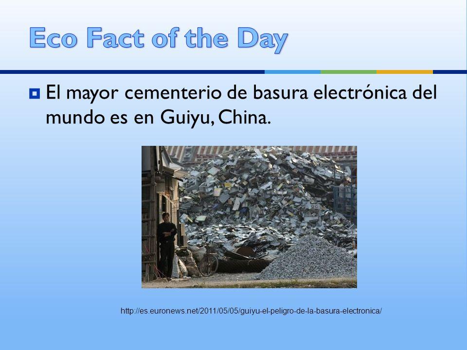 El mayor cementerio de basura electrónica del mundo es en Guiyu, China. http://es.euronews.net/2011/05/05/guiyu-el-peligro-de-la-basura-electronica/