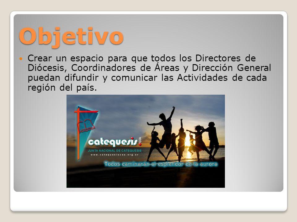 Website oficial http://www.catequesiscea.org.ar Menú JNC: Novedades, Identidad, Integrantes, Regiones y Áreas.
