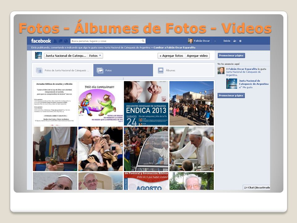 Fotos - Álbumes de Fotos - Videos