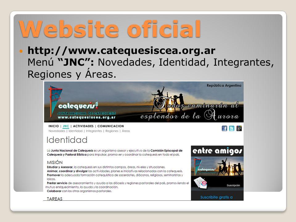 Website oficial Menú ACTIVIDADES: Agenda, Áreas, Pastoral Bíblica e ISCA.