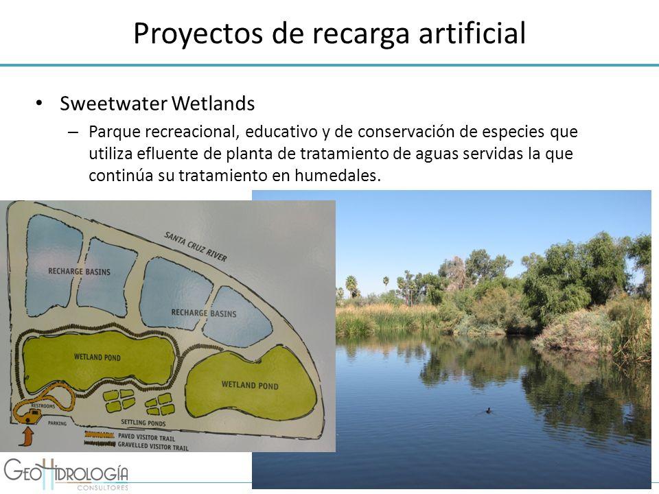 Proyectos de recarga artificial Sweetwater Wetlands – Parque recreacional, educativo y de conservación de especies que utiliza efluente de planta de t