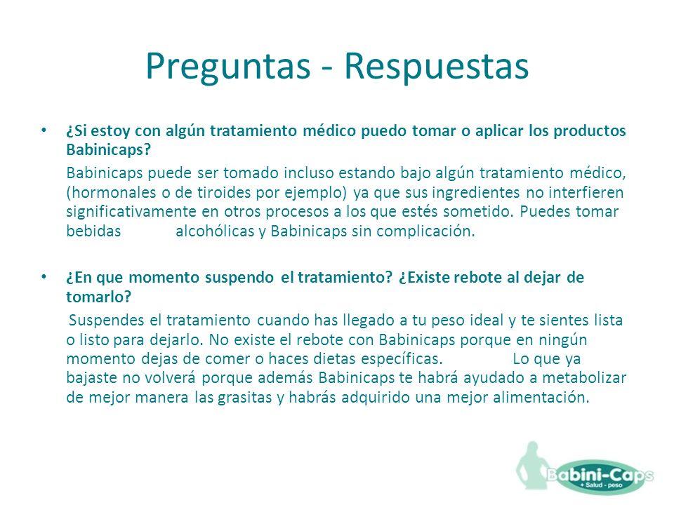 Preguntas - Respuestas ¿Si estoy con algún tratamiento médico puedo tomar o aplicar los productos Babinicaps.
