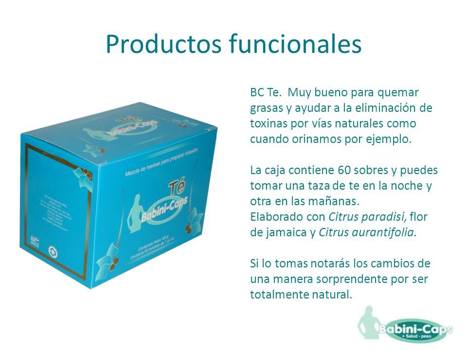 Productos funcionales BC Te.
