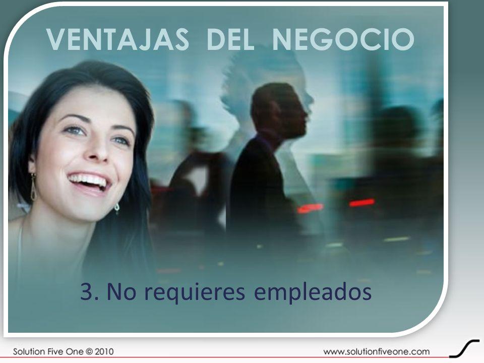 VENTAJAS DEL NEGOCIO 3. No requieres empleados