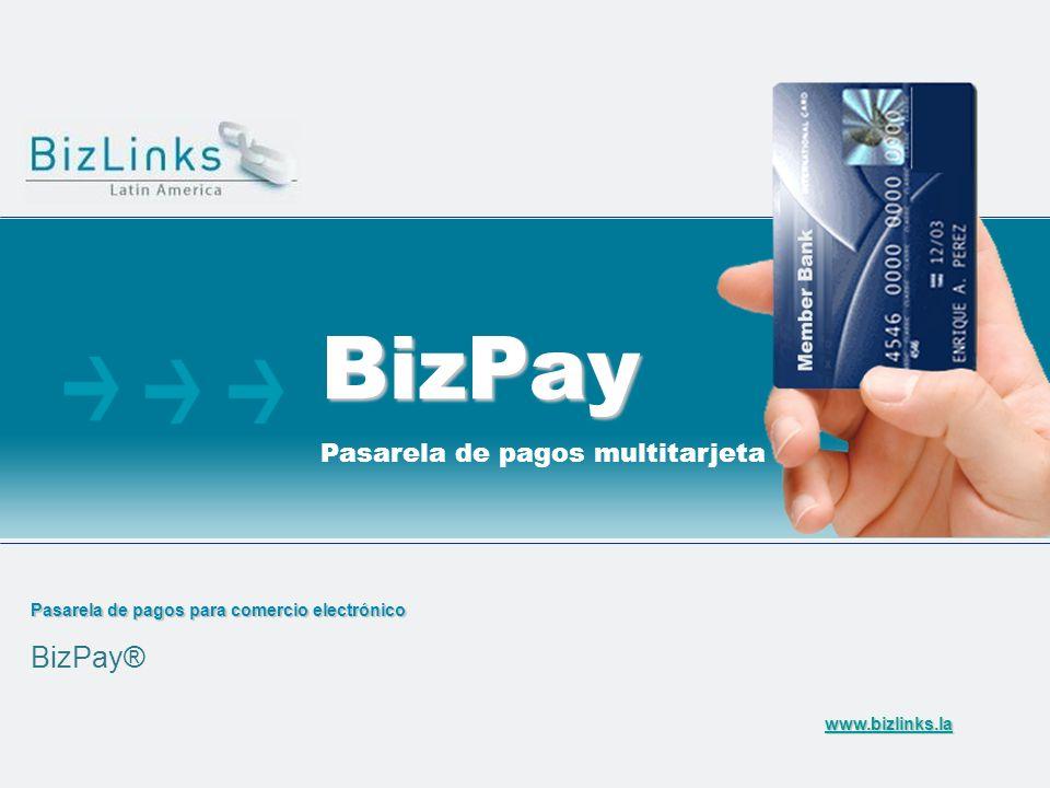 Pasarela de pagos para comercio electrónico BizPay® BizPay Pasarela de pagos multitarjeta www.bizlinks.la