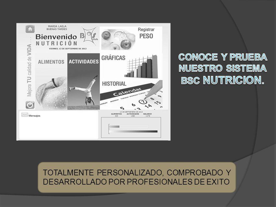 TOTALMENTE PERSONALIZADO, COMPROBADO Y DESARROLLADO POR PROFESIONALES DE EXITO