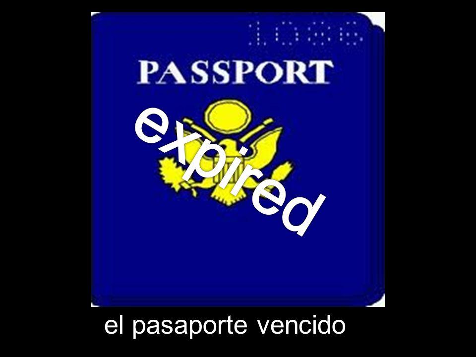 el pasaporte vencido