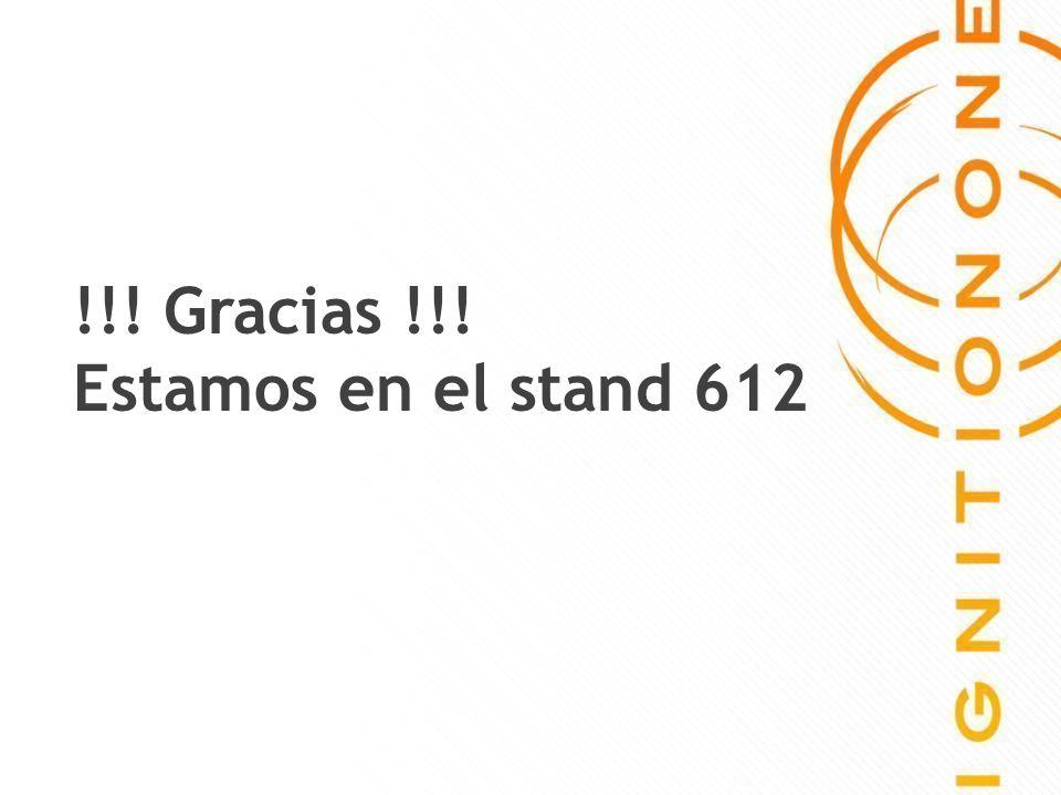 28 !!! Gracias !!! Estamos en el stand 612