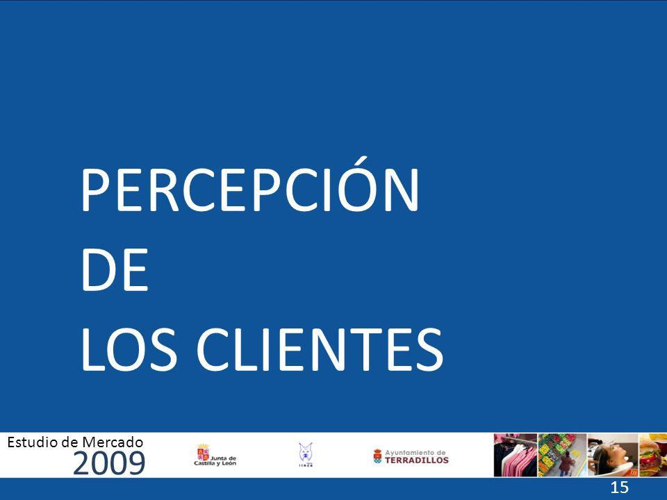 PERCEPCIÓN DE LOS CLIENTES 2009 Estudio de Mercado 15