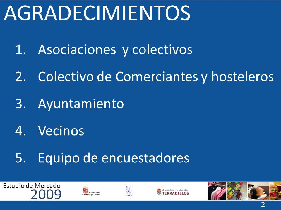 Comparativa 2009 Estudio de Mercado 33 HORARIOS SERVICIO CALIDAD.