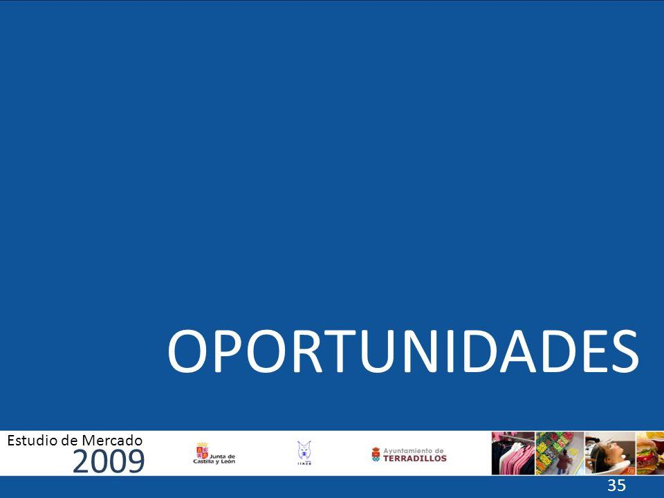 OPORTUNIDADES 2009 Estudio de Mercado 35