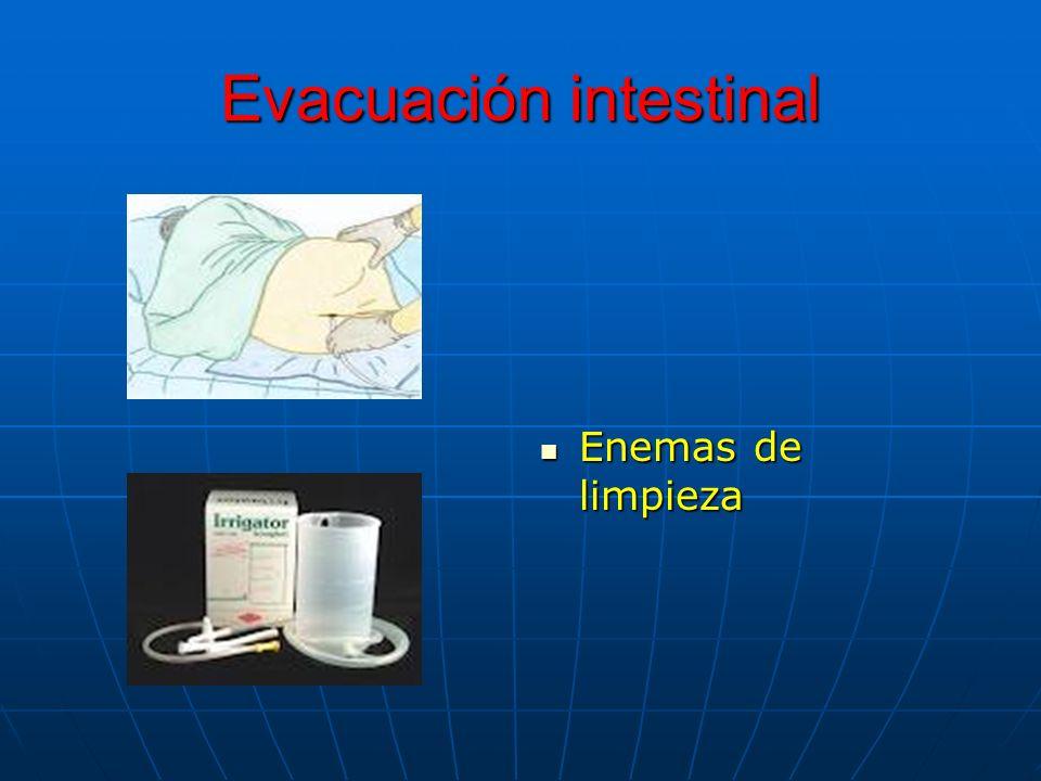 Evacuación intestinal Enemas de limpieza Enemas de limpieza