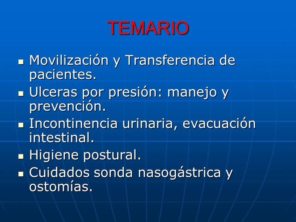 TEMARIO Movilización y Transferencia de pacientes.
