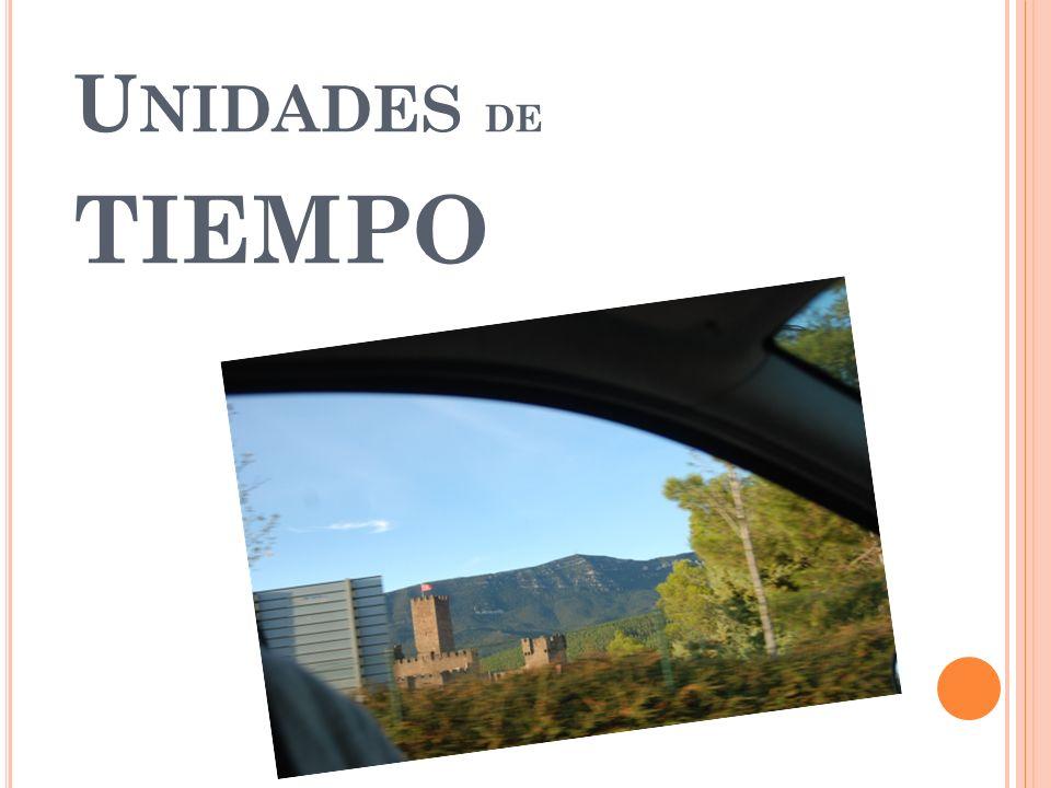U NIDADES DE TIEMPO