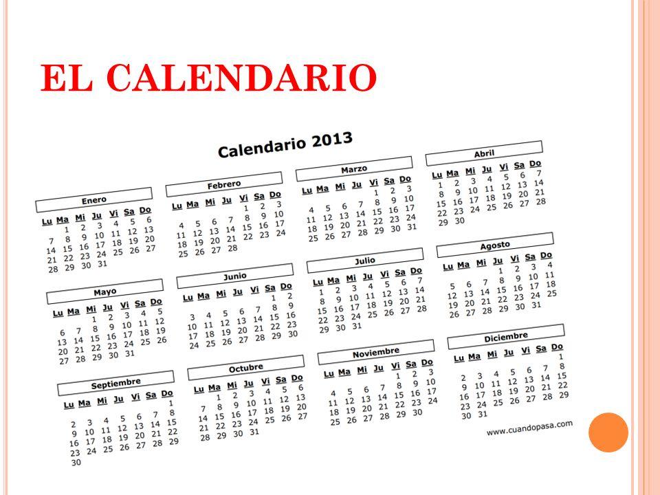 E QUIVALENCIAS ENTRE UNIDADES DE TIEMPO 1 minuto = 60 segundos 1 hora = 60 minutos 1 día = 24 horas 1 semana = 7 días 1 mes = 30 días (ó 31) 1 trimestre = 3 meses 1 cuatrimestre = 4 meses 1 semestre = 6 meses 1 año = 365 días 1 década = 10 años 1 Siglo = 100 años.