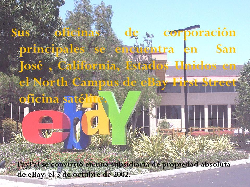 S us oficinas de corporación principales se encuentra en San José, California, Estados Unidos en el North Campus de eBay First Street oficina satélite.