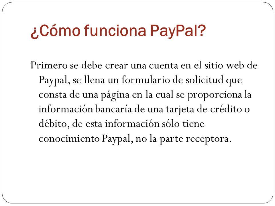 ¿Cómo funciona PayPal.