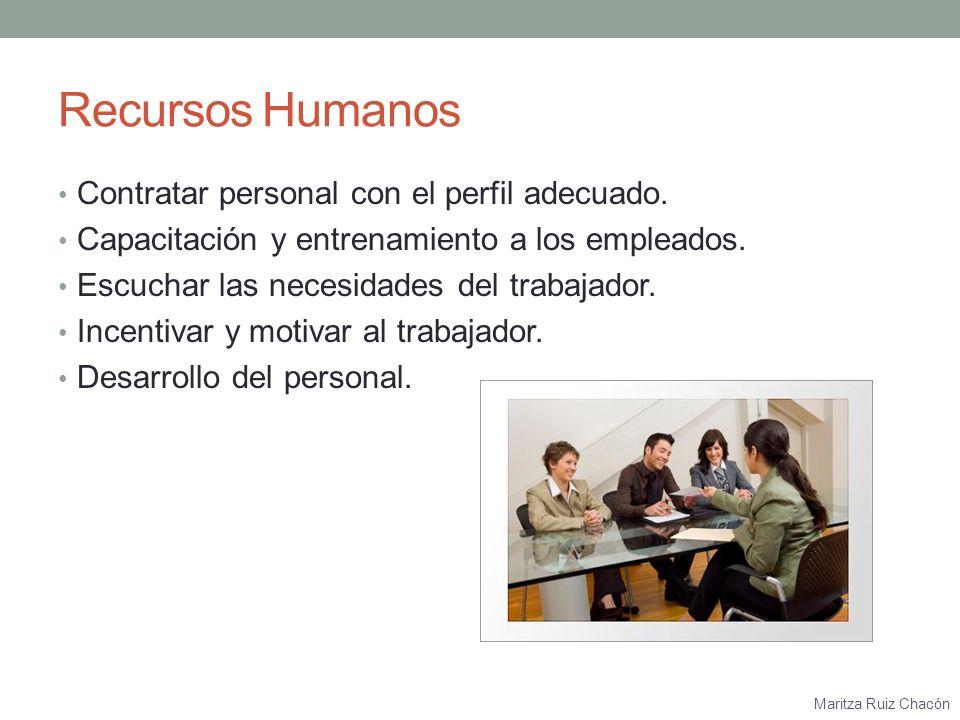Maritza Ruiz Chacón Ventas Dar una buena imagen al cliente.