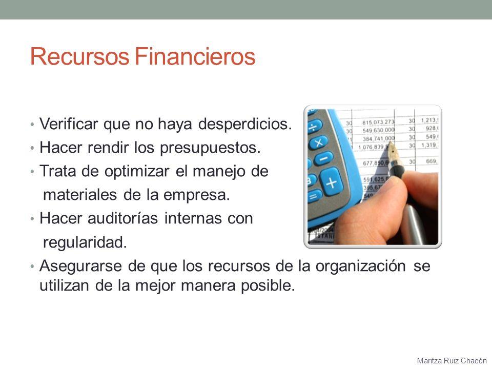 Maritza Ruiz Chacón Producción/Manufactura Controlar el proceso.