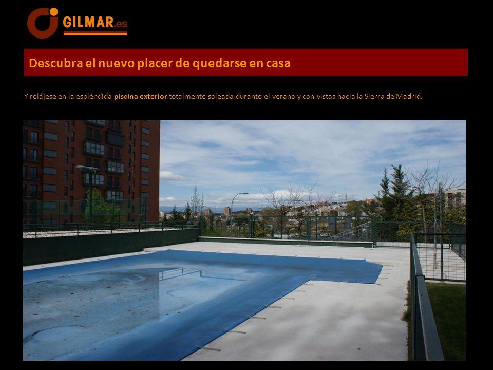 Descubra el nuevo placer de quedarse en casa Y relájese en la espléndida piscina exterior totalmente soleada durante el verano y con vistas hacia la S