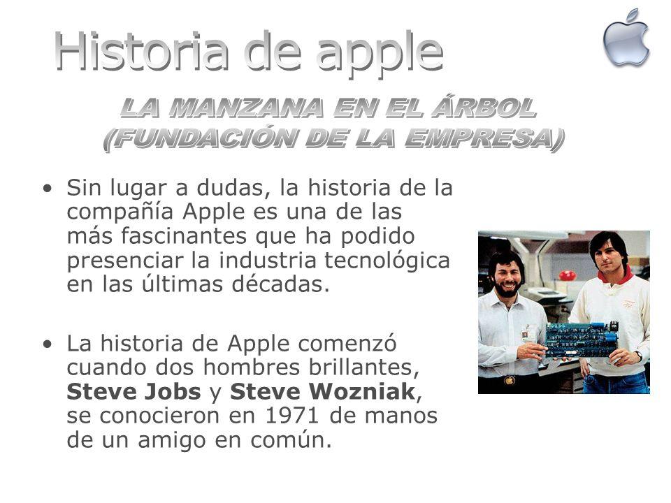 Sin lugar a dudas, la historia de la compañía Apple es una de las más fascinantes que ha podido presenciar la industria tecnológica en las últimas déc