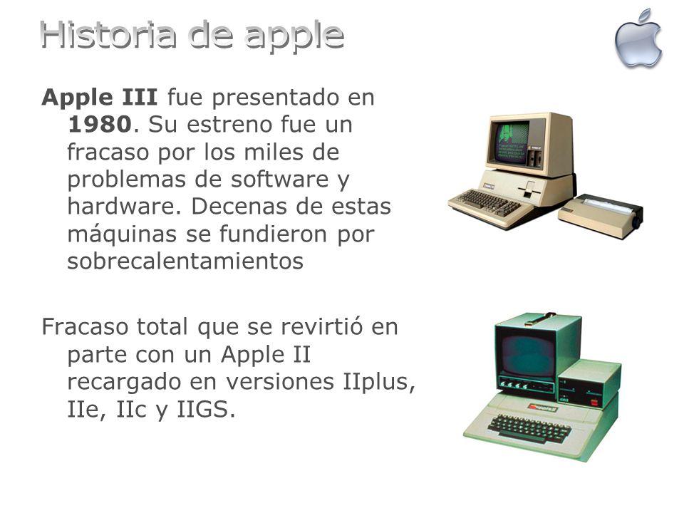 Apple III fue presentado en 1980. Su estreno fue un fracaso por los miles de problemas de software y hardware. Decenas de estas máquinas se fundieron