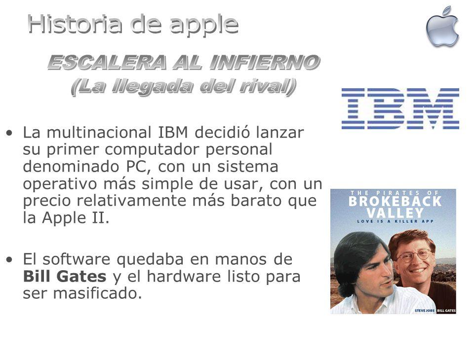 La multinacional IBM decidió lanzar su primer computador personal denominado PC, con un sistema operativo más simple de usar, con un precio relativame