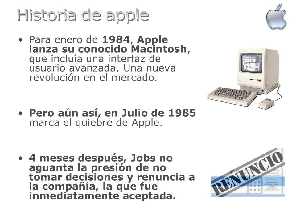 Para enero de 1984, Apple lanza su conocido Macintosh, que incluía una interfaz de usuario avanzada, Una nueva revolución en el mercado. Pero aún así,