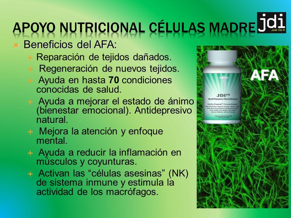 Beneficios del AFA: Beneficios del AFA: Reparación de tejidos dañados.