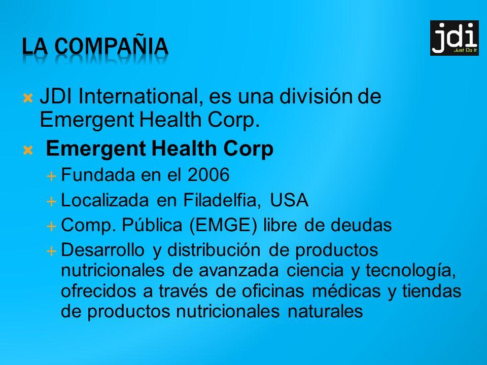 JDI International, es una división de Emergent Health Corp.