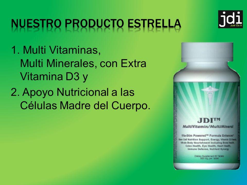 1.Multi Vitaminas, Multi Minerales, con Extra Vitamina D3 y 2.