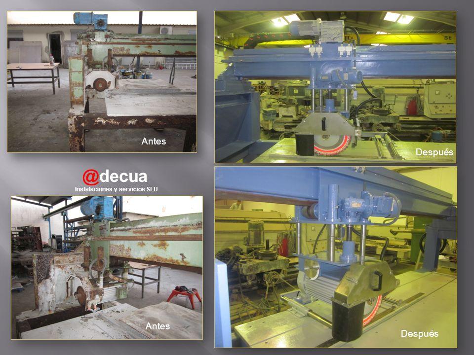 @decua Instalaciones y servicios SLU Antes Después
