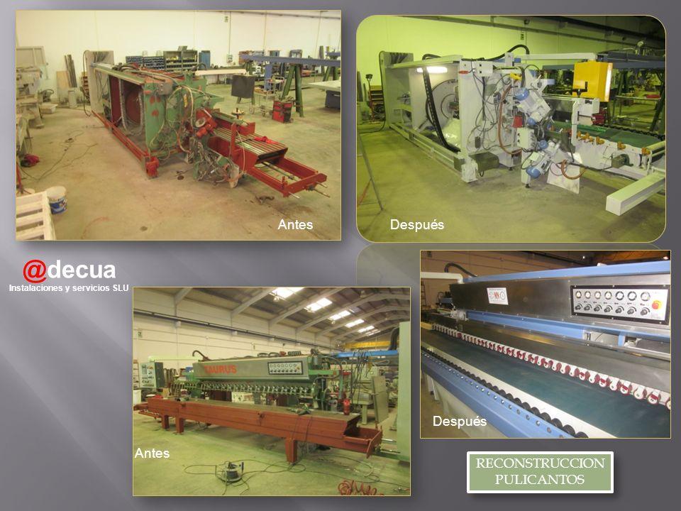 @decua Instalaciones y servicios SLU RECONSTRUCCION PULICANTOS RECONSTRUCCION PULICANTOS AntesDespués Antes Después