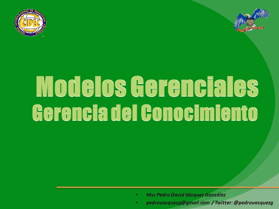 Msc Pedro David Vásquez González pedrovasquezg@gmail.com / Twitter: @pedrovasquezg Es la capacidad de recolectar datos del entorno, transformar esos datos en información y, a su vez, transformar esa información en conocimiento.