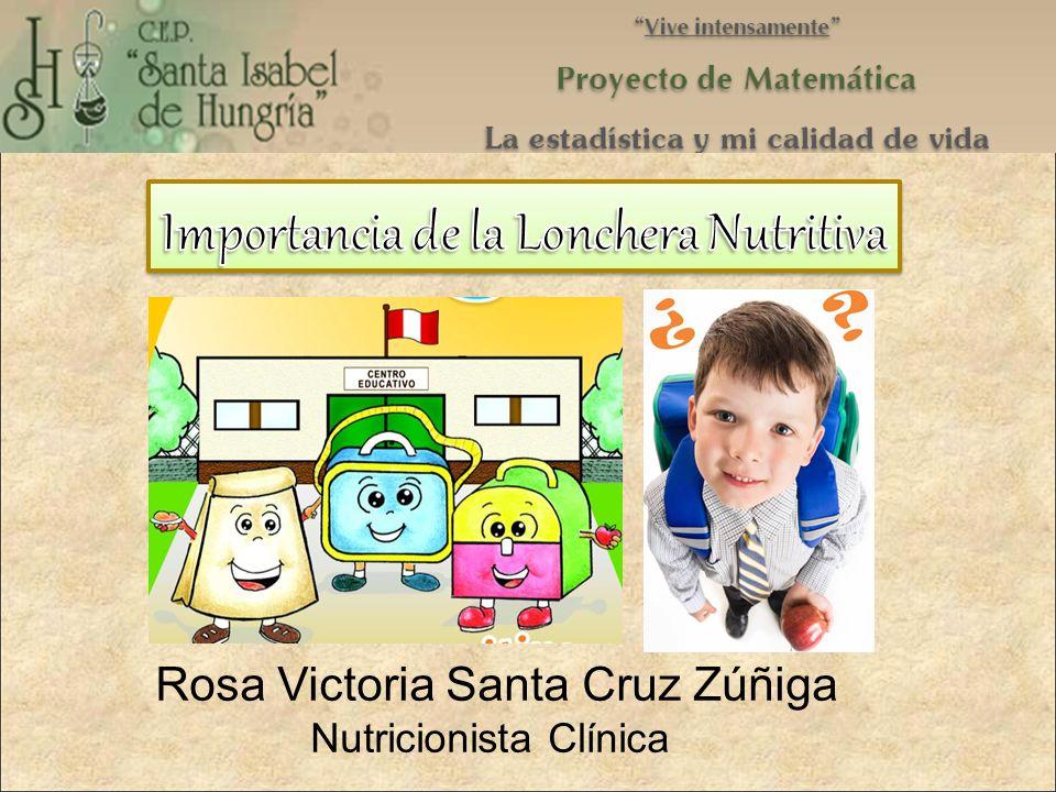 Rosa Victoria Santa Cruz Zúñiga Nutricionista Clínica