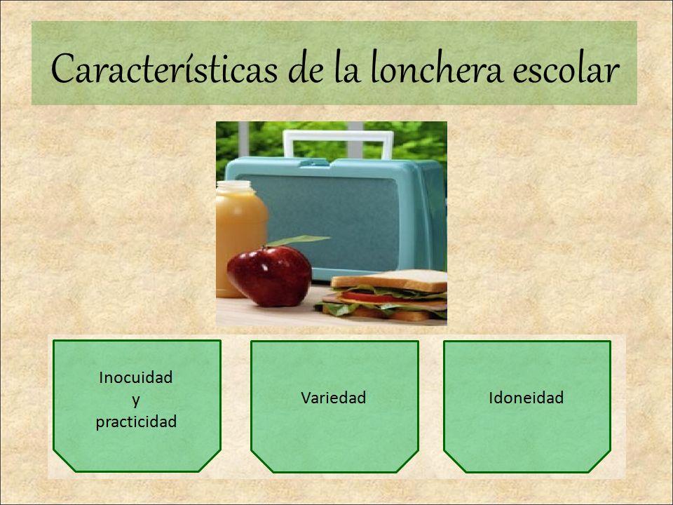Características de la lonchera escolar