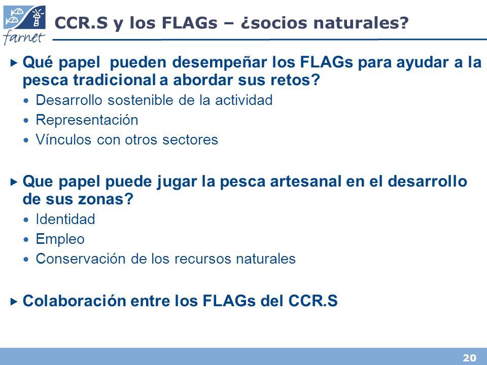20 CCR.S y los FLAGs – ¿socios naturales.