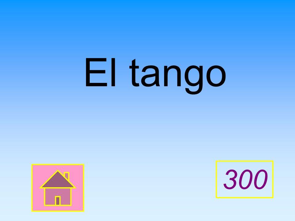 ____ es un baile típico de Argentina. Complete the sentence.