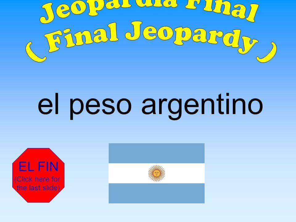 La moneda / El dinero de Argentina es ___.
