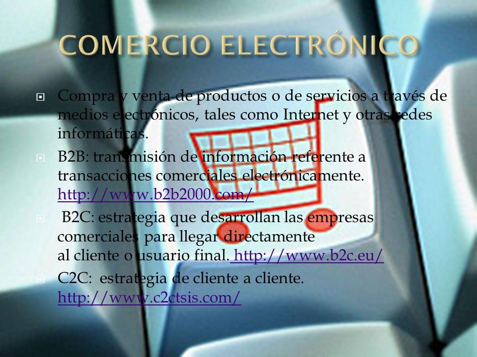 Una tienda On-line es un comercio convencional que usa como medio principal para realizar sus transacciones un sitio web de Internet.