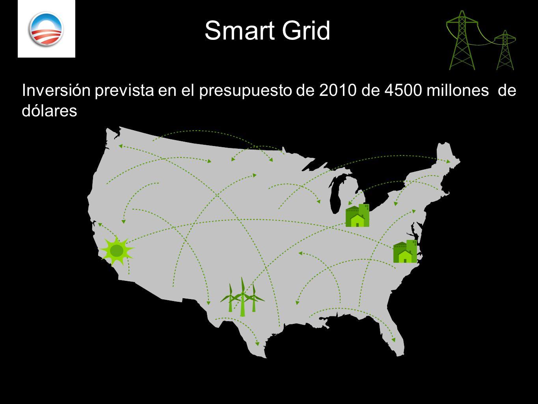 . Smart Grid Inversión prevista en el presupuesto de 2010 de 4500 millones de dólares