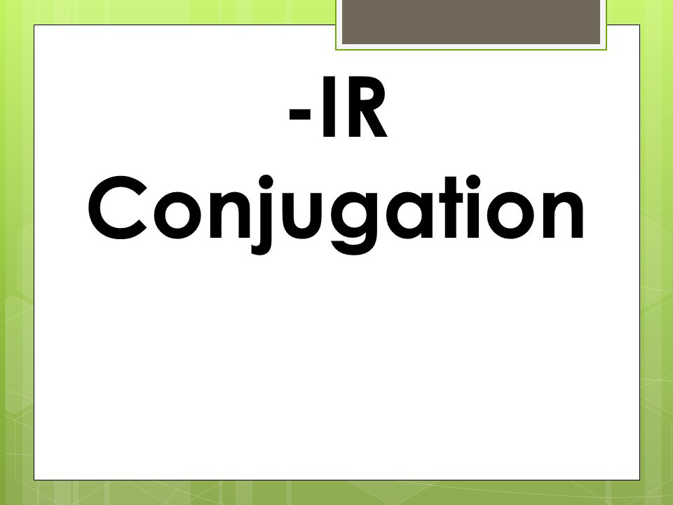 -IR Conjugation