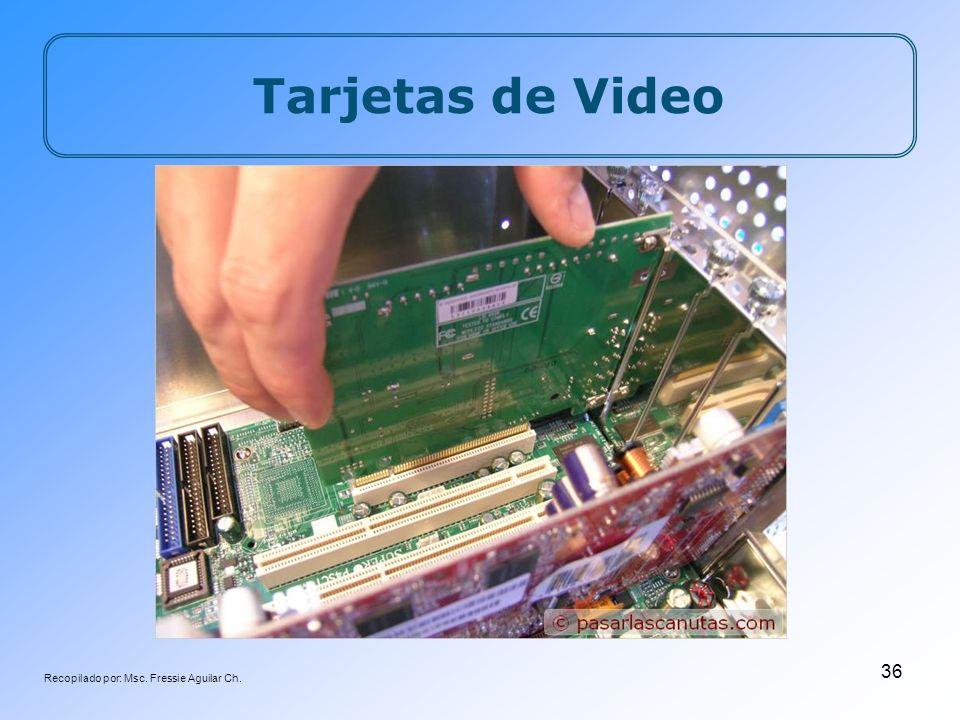 Recopilado por: Msc. Fressie Aguilar Ch. 36 Tarjetas de Video