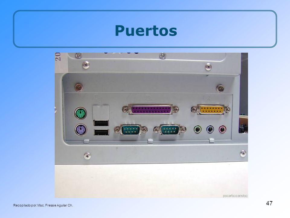 Recopilado por: Msc. Fressie Aguilar Ch. 47 Puertos