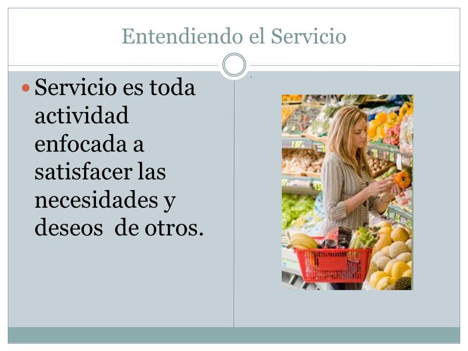 Entendiendo el Servicio Servicio es toda actividad enfocada a satisfacer las necesidades y deseos de otros..