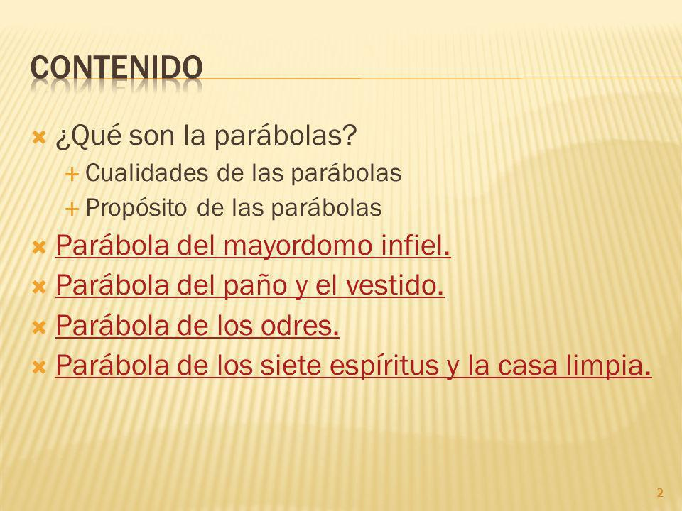 ¿Qué son la parábolas.